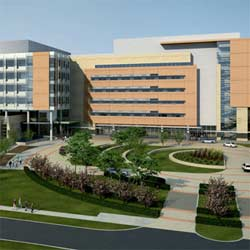A rendering of the finished Nemours Children's Hospital.